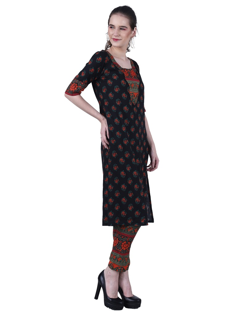 Nazakat A-Line Kurta with Cigarette Pant(Side 2)