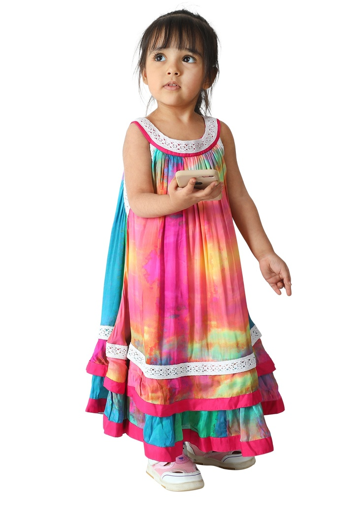 Wear We Met - Girls Tie & Dye Halter Neck Dress side 2
