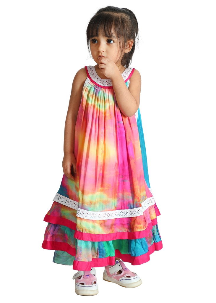 Wear We Met - Girls Tie & Dye Halter Neck Dress