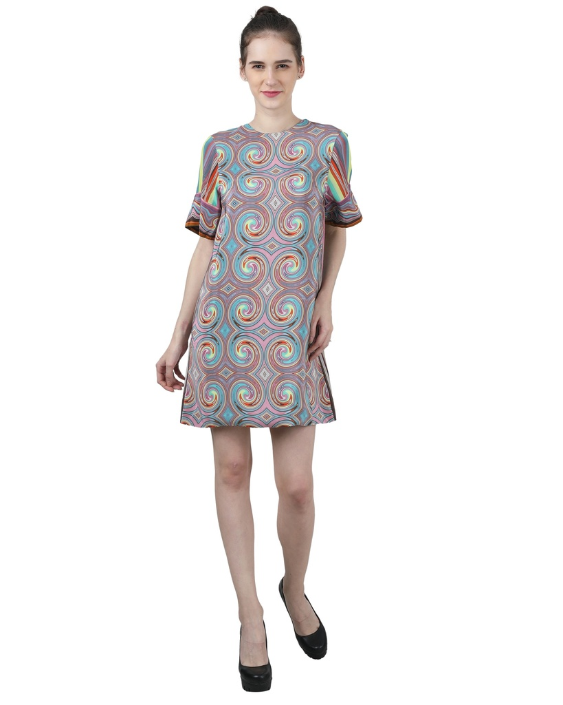 Wear We Met - Multicolored Tunic Dress