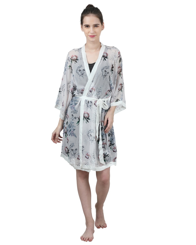 Wear We Met - Printed Robe