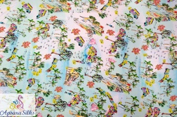 "[Printed Woven Fabric 100% Silk 58"" 70GSM] 26STK2018"