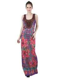 Wear We Met - Embroidered Long Dress
